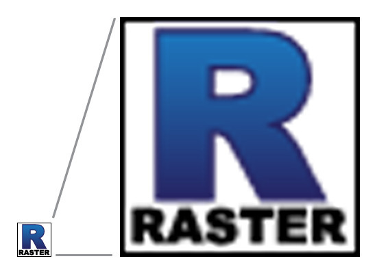 Raster images cannot scale without loss of quality.
