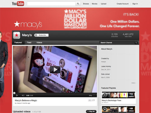 Macy's YouTube channel.
