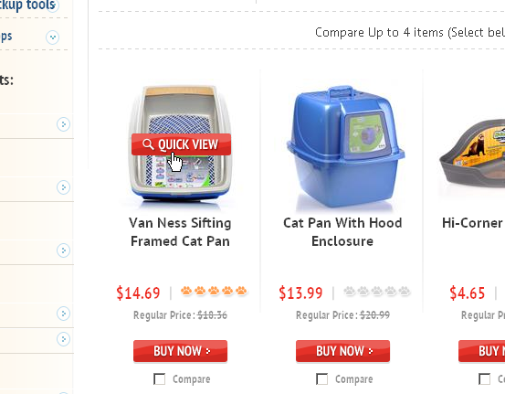 """Van Ness Sifting Framed Cat Pan,"" as shown on the category page."