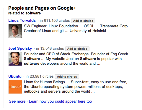 People and Pages is a new element added to Google search results.