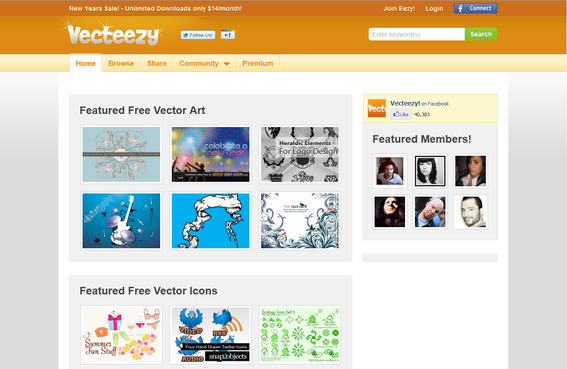 Vecteezy contains a large library of free vector images.
