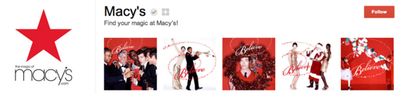 Macy's uses photos to support its Believe campaign.