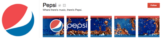 Pepsi used one image to create a banner effect.