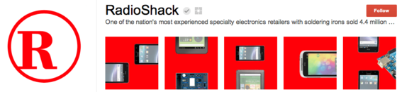 Radio Shack creates a puzzle-like effect with its photos.