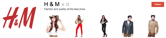 Fashion retailer H&M features clothing styles.