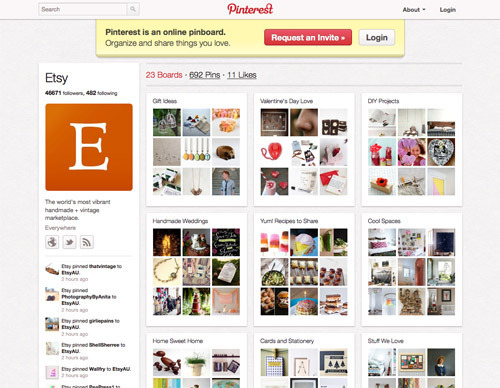 Etsy on Pinterest.