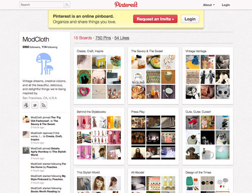 ModCloth on Pinterest.