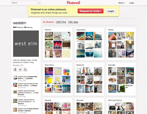 West Elm on Pinterest.