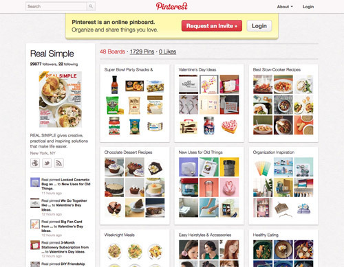 Real Simple on Pinterest.