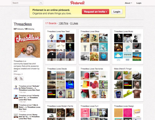 Threadless on Pinterest.