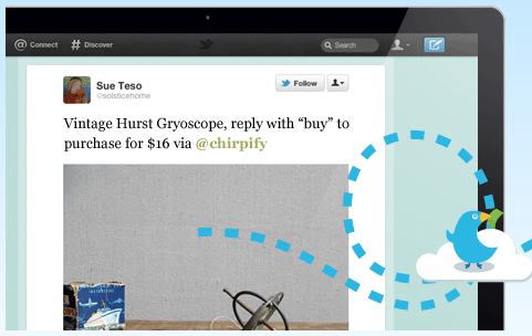 Example of a Chirpify Tweet.
