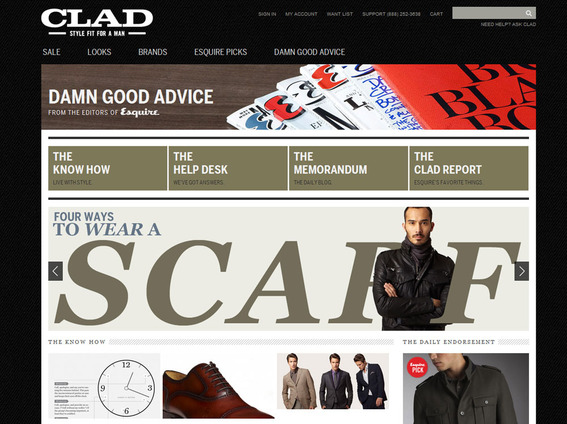 "Clad's ""Damn Good Advice"" section reads like a top notch magazine."