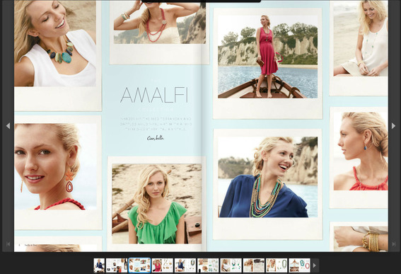 The Stella & Dot Spring 2012 look book is optimized for tablet viewing.