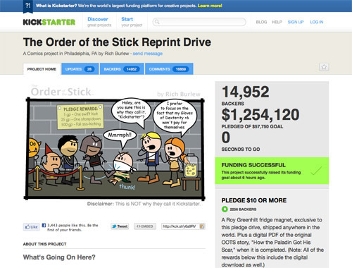 The Order of the Stick Reprint Drive.