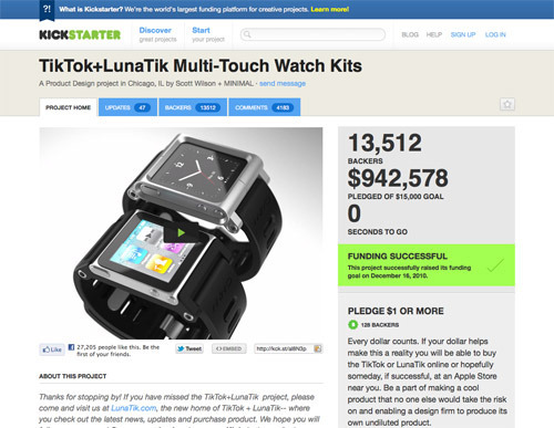 TikTok+LunaTik Multi-Touch Watch Kits.