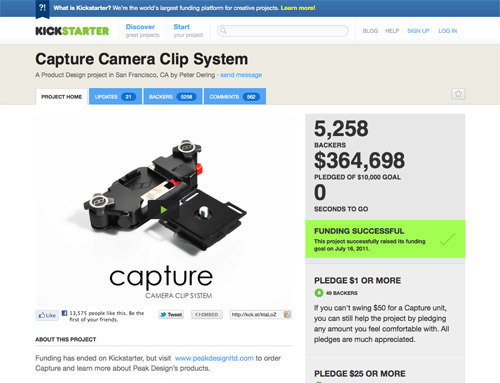 Capture Camera Clip System.