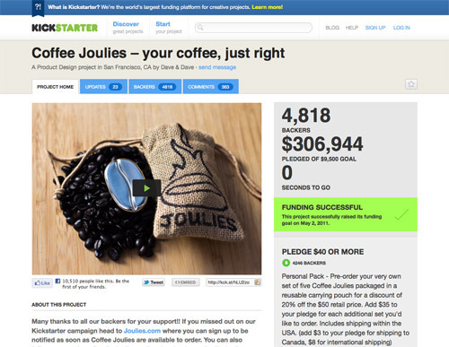 Coffee Joulies.