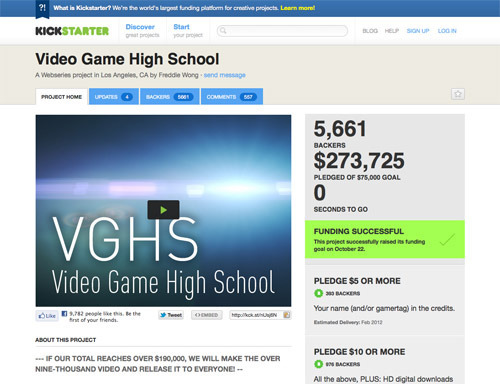 Video Game High School.