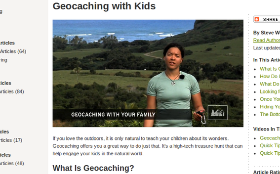 "REI's ""Geocaching with Kids"" article is a good example of high-quality, but simple, content marketing."