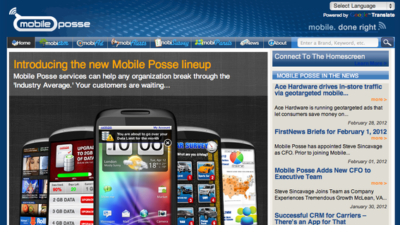 MobilePosse sends advertisements from its affiliate partners via cell phones.