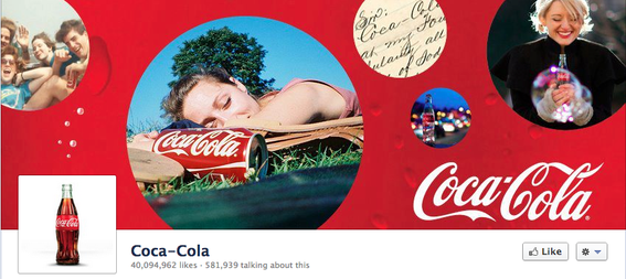 Coca-Cola's Timeline cover photo.