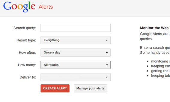 Google Alerts are a simple and easy way to do basic reputation monitoring.