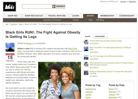 The REI blog title gets attention because readers are not used to retailers talking about race
