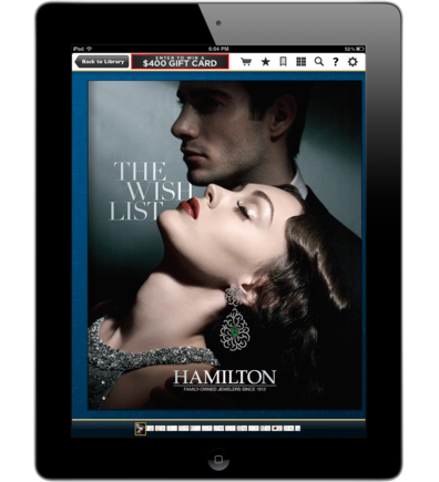 Hamilton Jewelers' tablet app on Catalog Spree.