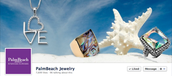 Palm Beach Jewelry's cover has a right-aligned focal point.