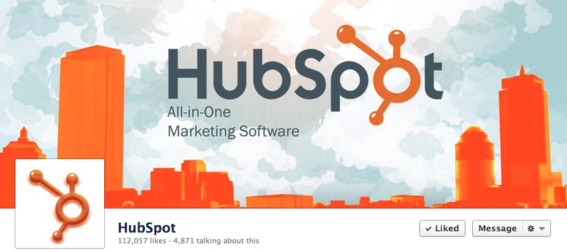 Hubspot's cover uses its logo as the focal point.