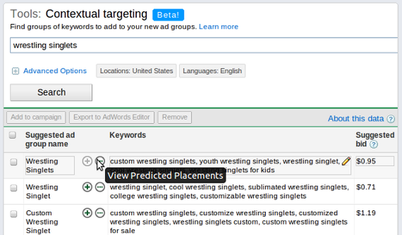 The contextual targeting tool can help identify query phrases that will provide a better return on investment.
