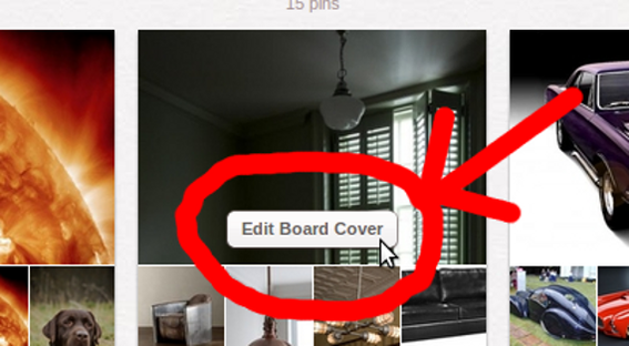 The first step in updating a board cover is to hover over the board.