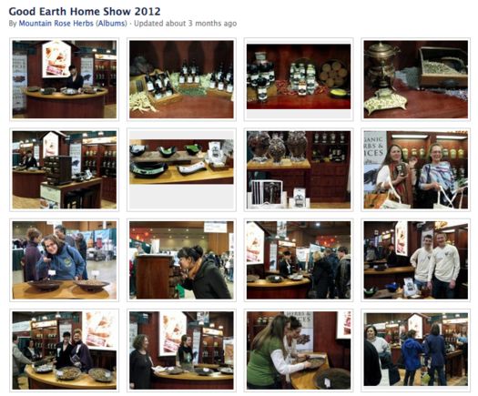 Mountain Rose Herbs features trade show photos.