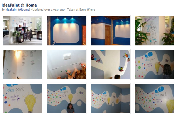 IdeaPaint likes it when kids write on the walls.