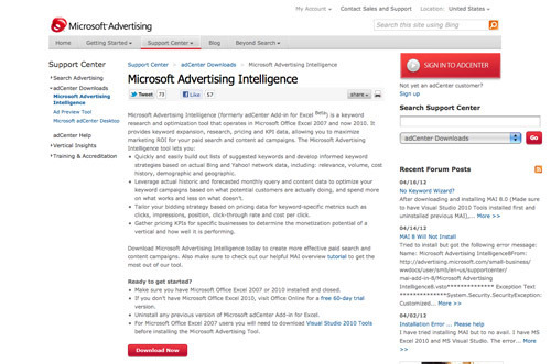Microsoft Advertising Intelligence.
