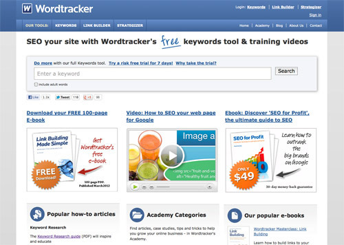 Free Keyword Suggestion Tool from Wordtracker.