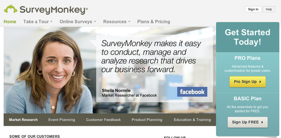 Survey Monkey is an effective and affordable tool to structure surveys and analyze the responses.