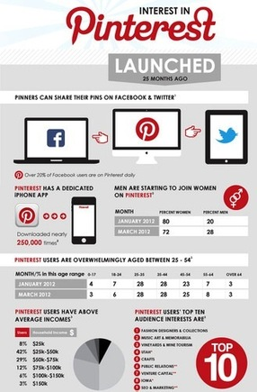 The Tamba infographic summarizes Pinterest data from several sources.