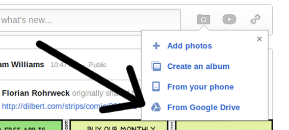 Google Drive is already integrated with Google+.