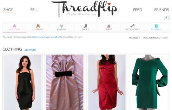 Threadflip is similar to Etsy, but focuses on women's clothing.
