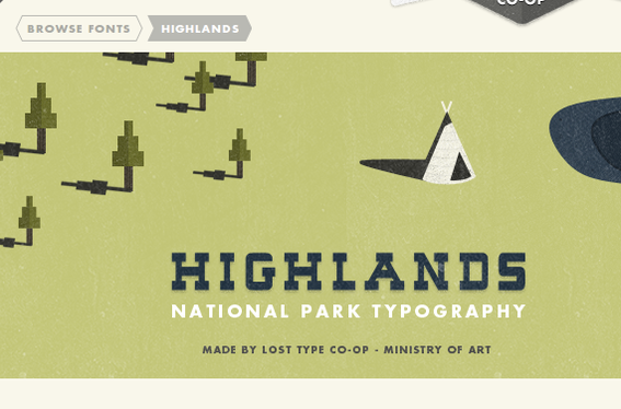 Highlands is available on a name-your-price basis from the Lost Type Co-op.