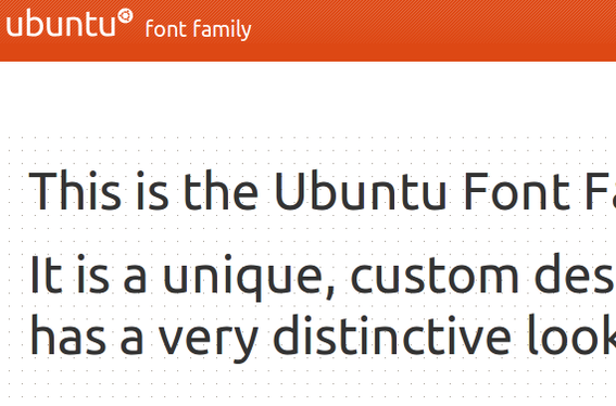 The Ubuntu font family, which is a mainstay of the popular Linux distribution, is now available free.