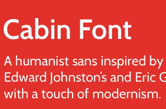 Cabin Font is from Impallari.