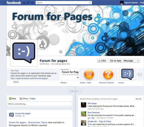 Forum For Pages on Facebook.