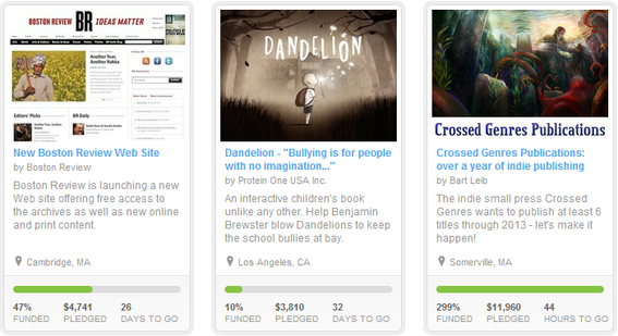 Crowdfunding sites are a good way to finance a project while gaining community involvement.