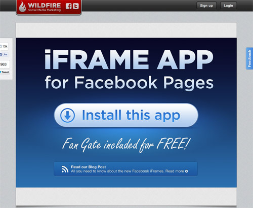 Wildfire iFrames for Pages.