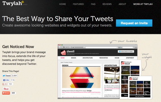 Twylah turns your Twitter feed into a website.