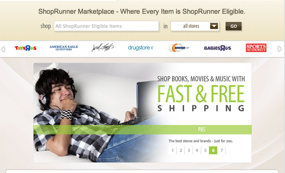 ShopRunner already includes several major brands.
