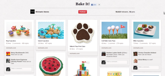 Michael's uses its Pinterest boards to segment followers.