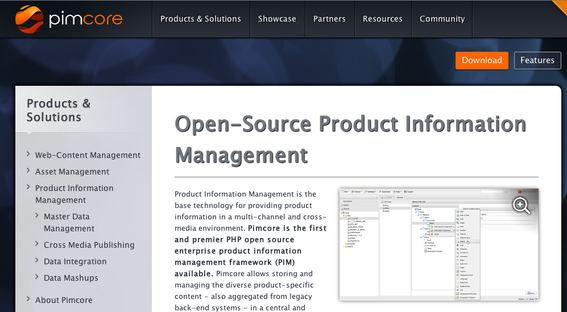 Pimcore is an open-source, PHP-based product information management solution.